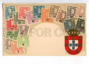 231931 PORTUGAL Coat of arms STAMPS Vintage Zieher postcard