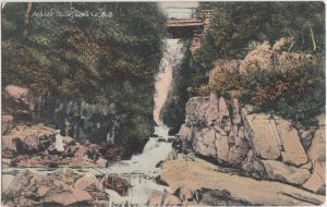 c1910 POKIOK FALLS New Brunswick Canada Postcard Perople Gorge
