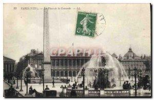 Old Postcard Paris VIII Concorde Square