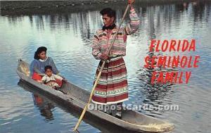 Published by Plastichrome Seminole Indians, Florida USA Postcard