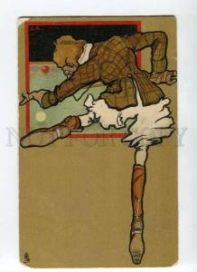264854 ART NOUVEAU Billard BILLIARDS by LS Vintage TUCK #304