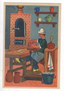 AS- NETREAU- French Pottery Maker at Work,France 00-10s