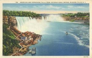 American and Horseshoe falls, Niagara falls, New York use...