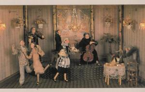 Palm Court Orchestra in 1980s Old Musical Music Waxwork Model Exhibit Postcard