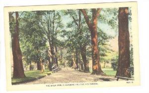 The walk, Public Gardens, Halifax, Nova Scotia, Canada, 10-20s