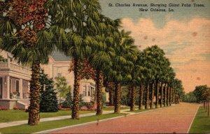Louisiana New Orleans St Charles Avenue 1941 Curteich