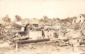 D96/ Anoka Minnesota Mn Real Photo RPPC Postcard c1930s Tornado Disaster Homes 1