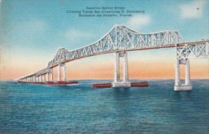 Florida St Petersburg Sunshine Skyway Bridge