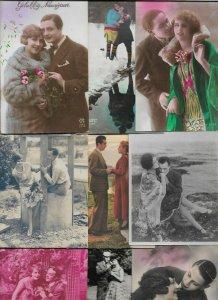 Art Nouveau - Romantic Couples Lot of 20 Postcards 01.08