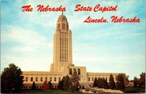Nebraska NE Lincoln Capitol City Hall Vintage - Postcard Old View