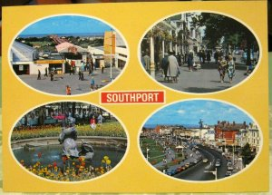 England Southport Pier Lord Street Gardens South promenade - unposted