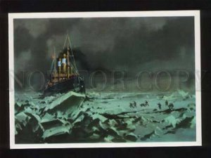 d051868 North Pole Rescue dirigible balloon  Italy  Old PC