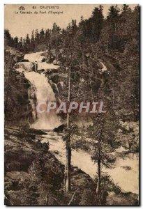 Old Postcard Cauterets Cascade Bridge d & # 39Espagne