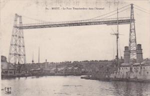 France Brest Le Pont Transbordeur dans l'Arsenal