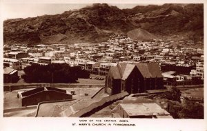 Yemen Aden View of the Crater real photo Postcard