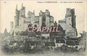 Postcard Ancient Ruins Chateau de Pierrefonds before Restoration