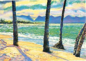 Mammas Fish House Maui Hawaii Kuau Poho Place Beach Ocean  Postcard  # 7540