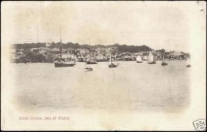 isle of wight, West COWES, Panorama from the Sea (1904)