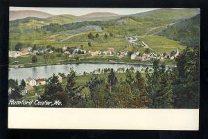 Rumford, Maine/ME Postcard, Rumford Center, Aerial View