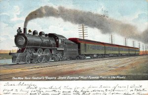 New York Central's Empire State Express Train, early postcard, used in 1906