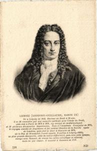 CPA GODEFROI-GUILLAUME, BARON DE LEIBNIZ. Savant inventeur (287549)