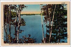 View from Lake View Cabins, Canadarago Lake NY