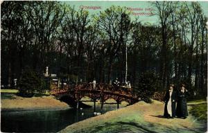 CPA GRONINGEN Rustieke brug Sterrebosch NETHERLANDS (604272)