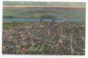 Aerial View Business District, Fort Smith, Arkansas, PU-1947