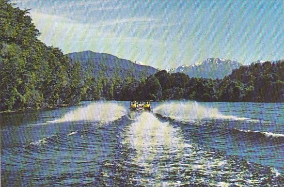 New Zealand Jet Boat On The Waiau River