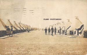 WACO, TEXAS CAMP MACARTHUR-A COMPANY STREET RPPC REAL PHOTO POSTCARD