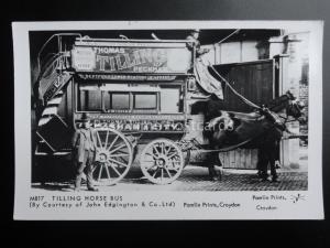 THOMAS TILLING OF PECKHAM HORSE BUS Pamlin Print Postcard No.M817