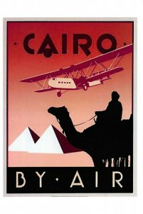 Vintage Reproduction Travel Poster Postcard, Cairo by Air, Egypt GR7