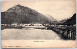 Skagway, Alaska Postcard City / Mountain View Albertype c1900s UNUSED