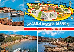 Jugoslavia Old Vintage Antique Post Card Jadransko More Pozdrav iz Postira Po...