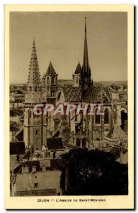Dijon Old Postcard L & # 39abside Saint Benigne