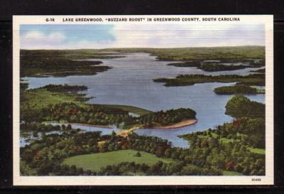 South Carolina colour PC Lake Greenwood Buzzard Roost, unused