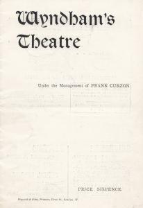 Little Mary Charles Frohman Gerald Du Maurier Wyndhams Theatre Programme