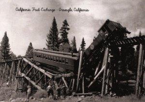 CA - Graeagle. Train Wreck, California Fruit Exchange (5.75 X 4 Photo Reprint)