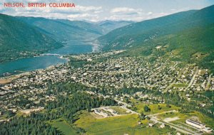 NELSON, British Columbia, Canada, 1950-1960s; Aerial View
