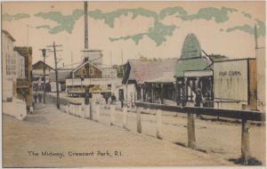 CRESCENT PARK RI - Amusement Park 1910s era / THE MIDWAY / now CLOSED