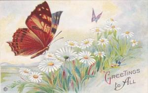 Greetings To all With Butterfly