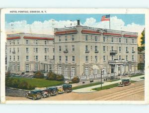 W-Border OLD CARS & PONTIAC HOTEL Oswego New York NY u9663