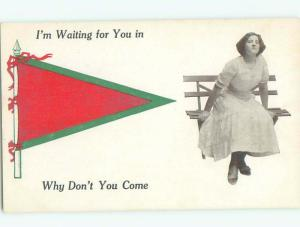 Divided-Back PRETTY WOMAN Risque Interest Postcard AA7899