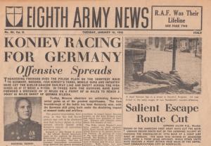 Eighth Army News Koniev Germany Railway Russia WW2 Military Newspaper