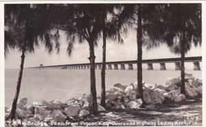Florida Keys 7 Mile Bridge Seen From Pigeon Key Overseas Highway To Key West ...