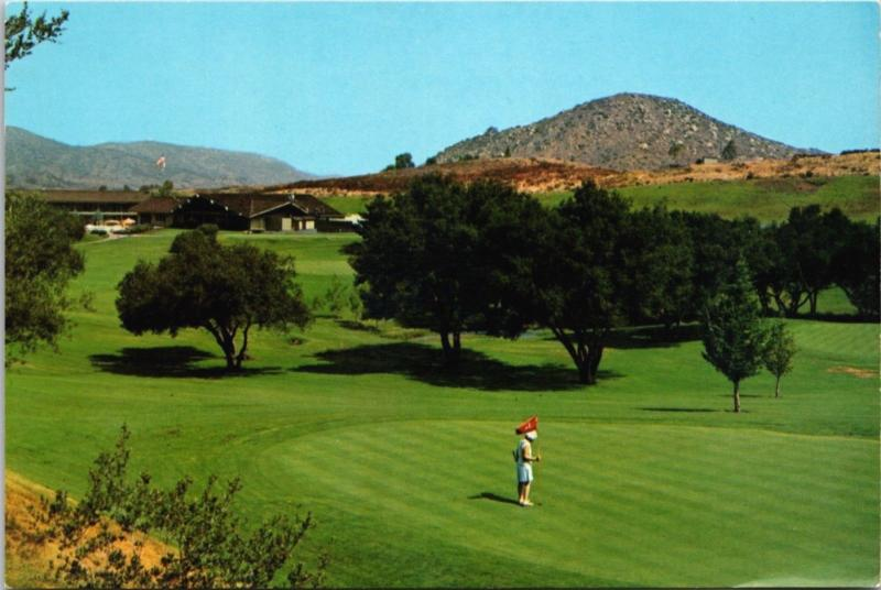 Lawrence Welk's Country Club Village Escondido CA Golf Course Postcard D34