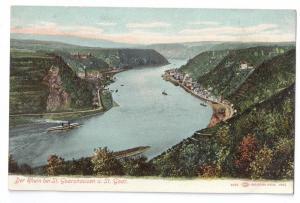 Der Rhein bei St. Goarshausen St. Goar Germany UDB c 1904