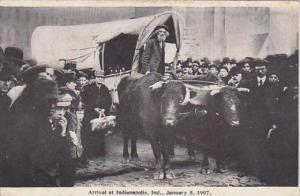 Indiana Orville Pritchett Arriving At Indianapolis January 5  1907