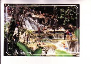 Many People at the Falls at Dunn's River, Ocho Rios, St Ann, Jamacia,