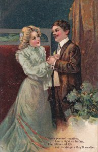 Man and woman holding hands, Poem, 00-10s